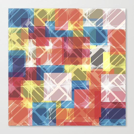 squares n holes... Canvas Print