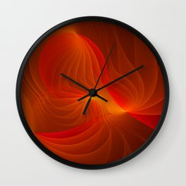 Much Warmth, Abstract Fractal Art Wall Clock