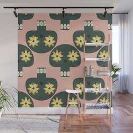Funny pattern with cute skulls Wall Mural