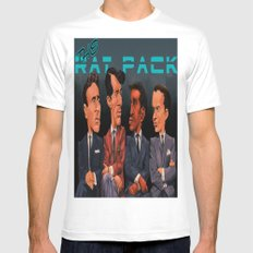 The Rat Pack White MEDIUM Mens Fitted Tee
