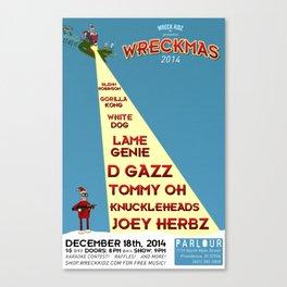 Wreckmas 2014 Poster Canvas Print