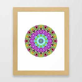 Beautiful colorful abstract mandala Framed Art Print