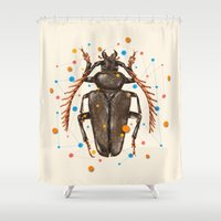insect Shower Curtains featuring INSECT VIII by dogooder