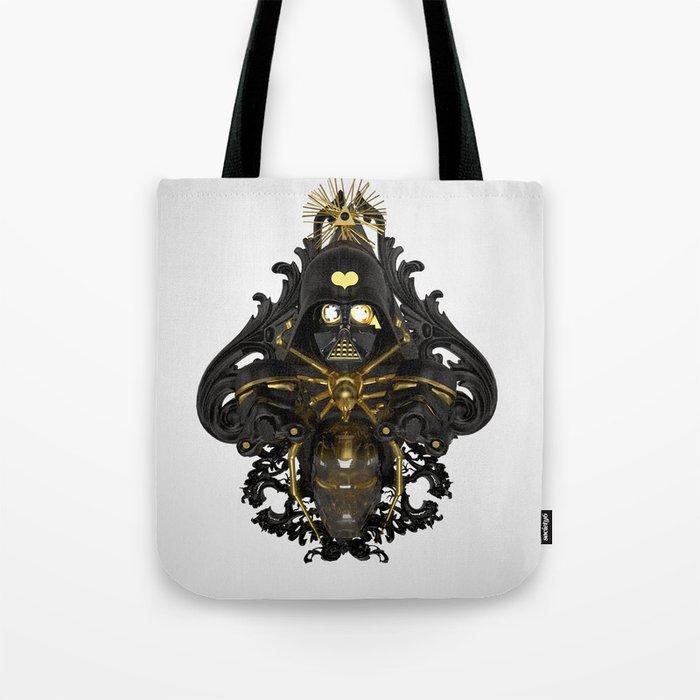 Black stress Tote Bag