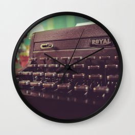 Type the Pages to Your Dream. Wall Clock