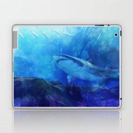 Make Way for the Great White Shark King  Laptop & iPad Skin