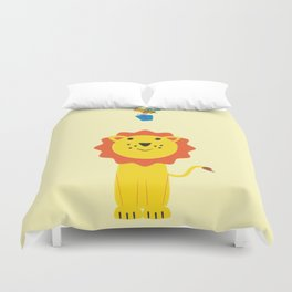Lion and bee Duvet Cover