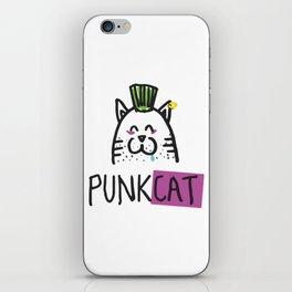 Punk cat iPhone Skin