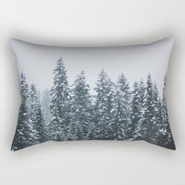 Winter Wonderland in the Wild of Montana Rectangular Pillow
