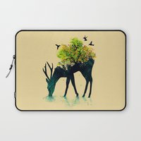 elegant Laptop Sleeves featuring Watering (A Life Into Itself) by Picomodi