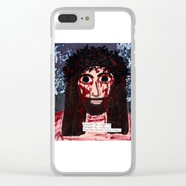 Exhausted You Sought Me... Clear iPhone Case