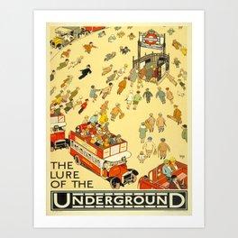 Vintage poster - London Underground Art Print