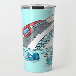 Beach Party Shark Travel Mug