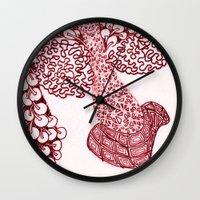 anchorman Wall Clocks featuring Anchorman by Lady Tanya bleudragon