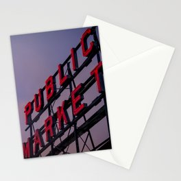 Pike Place Neon Sunrise Stationery Cards