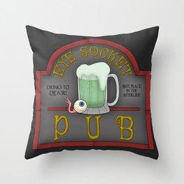 Eye Socket Pub Throw Pillow