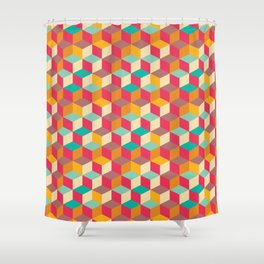 Squares 001 Shower Curtain