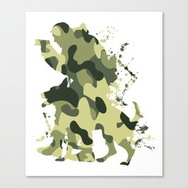 German Armed Forces soldier dog army gift T-Shirt Canvas Print