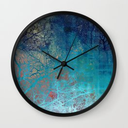 On the verge of Blue Wall Clock