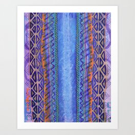 Blue Conduit Vertical Art Print