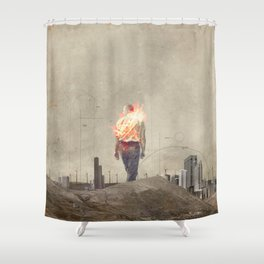 These cities burned my soul Shower Curtain