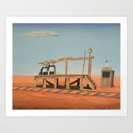 Outback Train Station Art Print