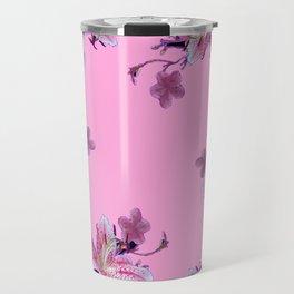 ORIENTAL STYLE PINK-BLACK FLORALS Travel Mug