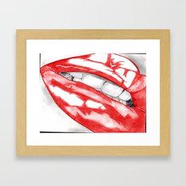 Hot Lips Scarlet Framed Art Print