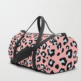 Leopard Print - Icy Peach Duffle Bag