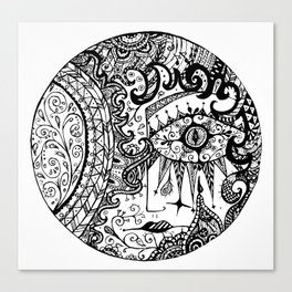Crying Moon Canvas Print