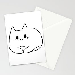 Cat White version 121 Stationery Cards