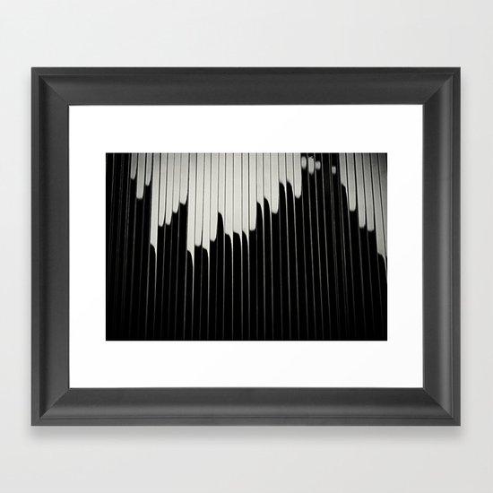STEEL & MILK II. Framed Art Print