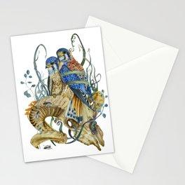 Kestrel and skulls Stationery Cards