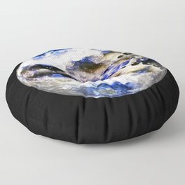 Globe19/For a round heart Floor Pillow