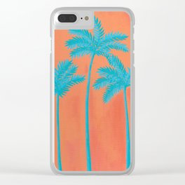 Turquoise Palms Clear iPhone Case