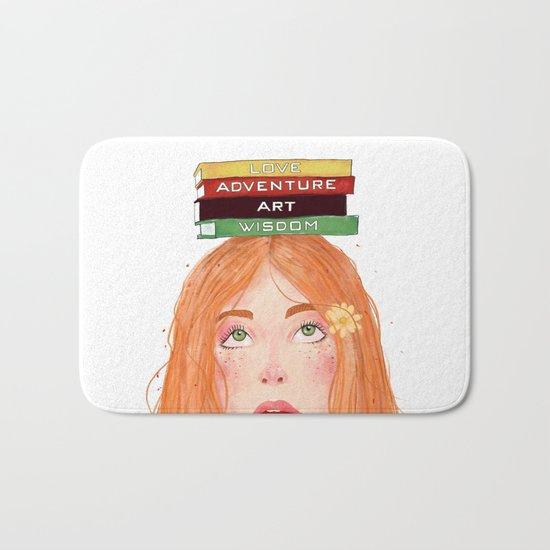 Book girl 02 Bath Mat