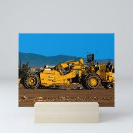 Cat Earth Scraper Mini Art Print