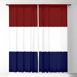 Team Colors 8....Maroon , navy and white Blackout Curtain