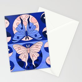Luna Moth Phases Stationery Cards
