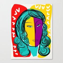 Portrait Sud Light Pop Canvas Print