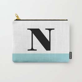 Monogram Letter N-Pantone-Limpet Shell Carry-All Pouch