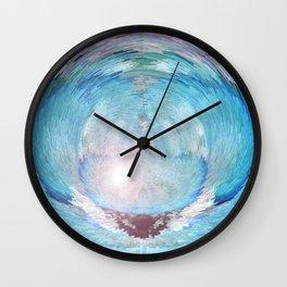 A Woven Basket Case - Electrified In Blue Wall Clock