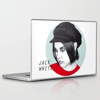 jack white Laptop & iPad Skins featuring JACK WHITE by Nuk_