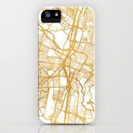 MEDELLÍN COLOMBIA CITY STREET MAP ART iPhone Case