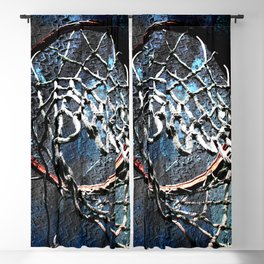 Basketball art swoosh 99 Blackout Curtain
