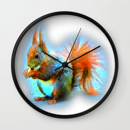 Squirrel in modern style Wall Clock