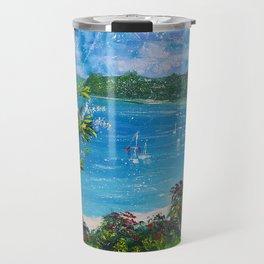 Sunny Bay - I love New Zealand Summers Travel Mug