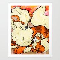 Volcanic Holiday Art Print