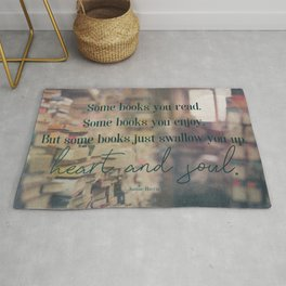Heart and soul - Book Quote Collection Rug