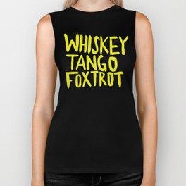 Whiskey Tango Foxtrot - Color Edition Biker Tank
